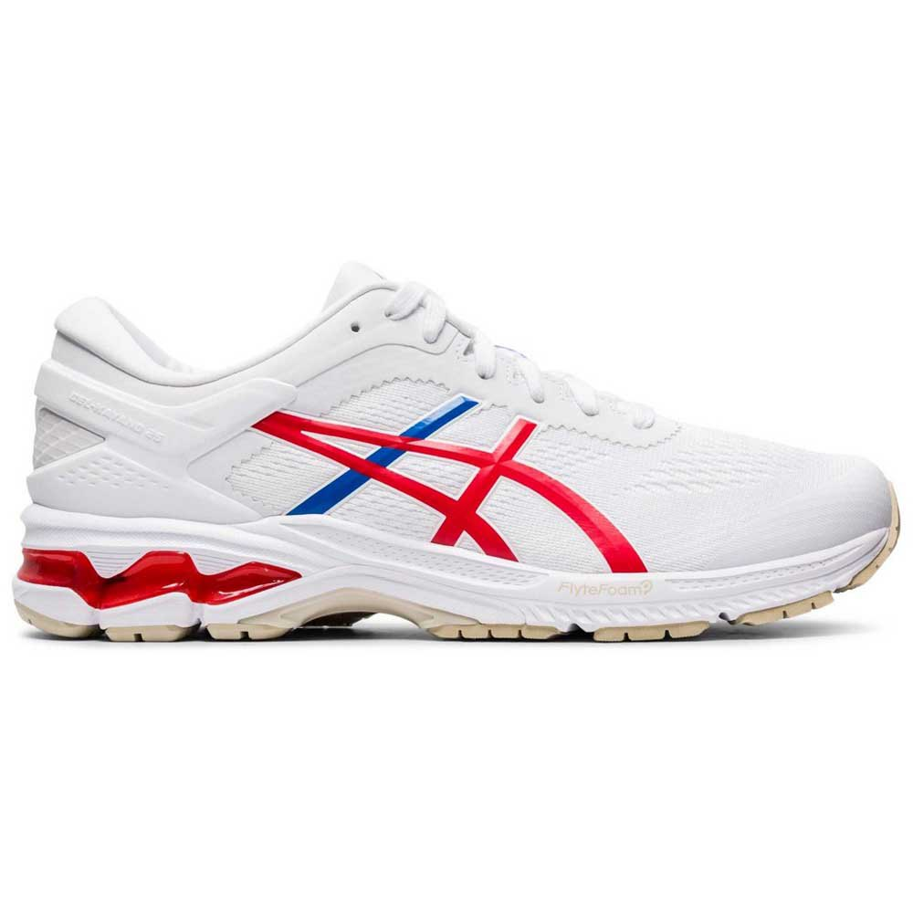 Asics Gel Kayano 26 EU 44 White / Classic Red