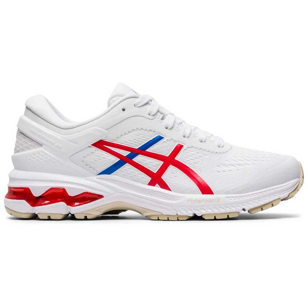 Asics Gel Kayano 26 EU 42 White / Classic Red