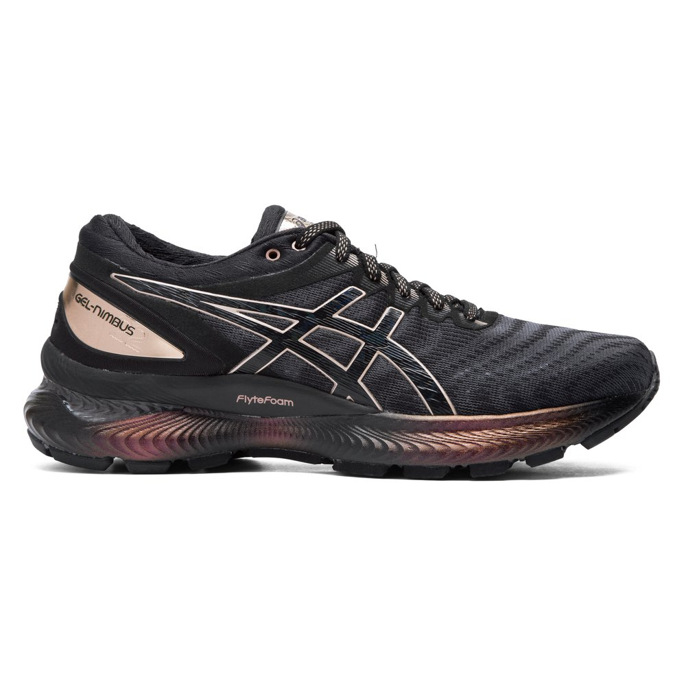 Asics Gel Nimbus 22 Platinum EU 42 1/2 Black / Rose Gold