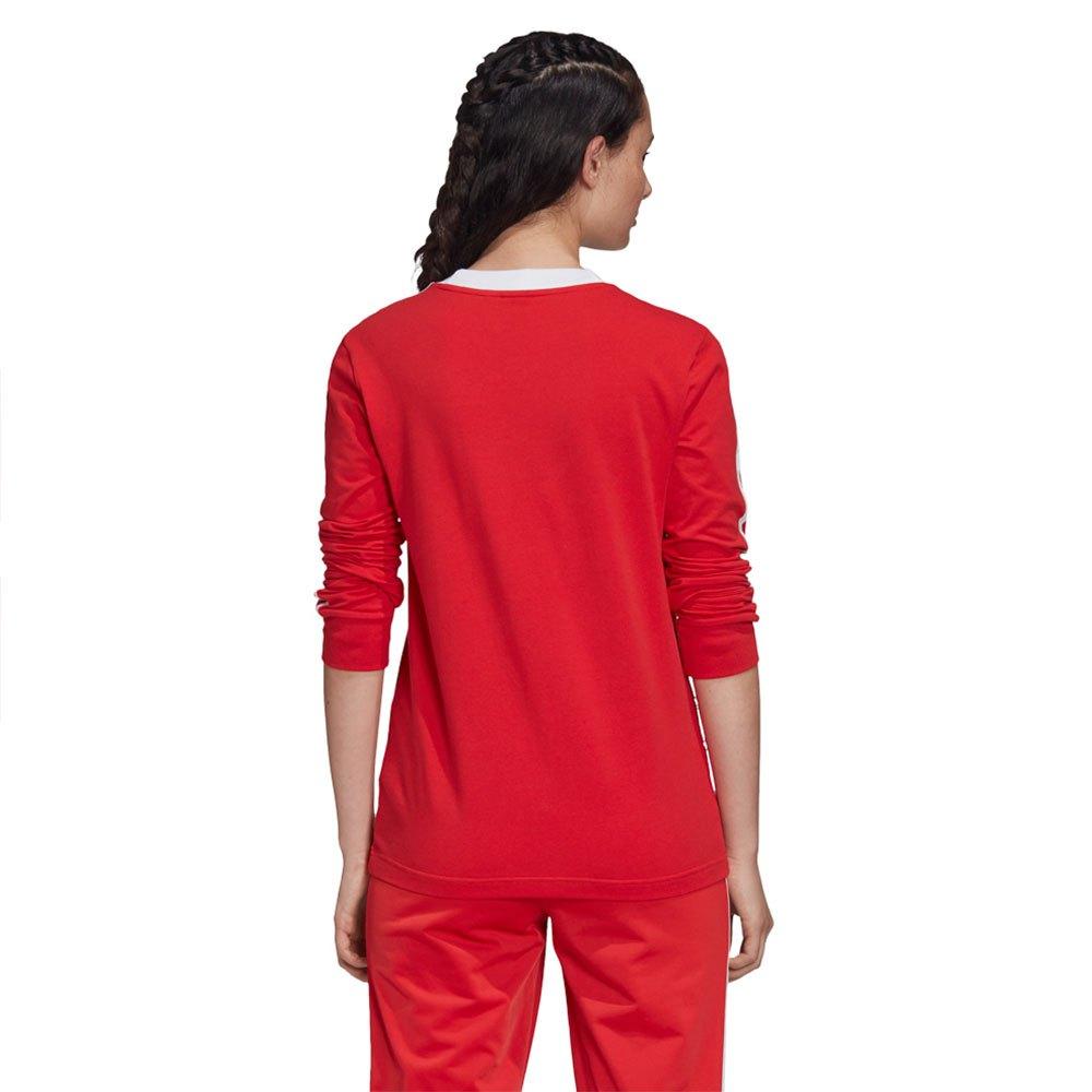 Adidas-Originals-3-Stripes-Rouge-T70867-T-Shirts-Femme-Rouge-T-Shirts-mode miniature 8