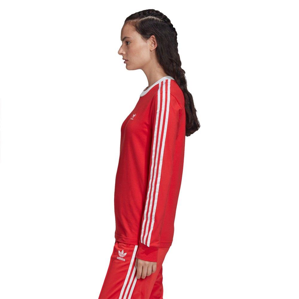 Adidas-Originals-3-Stripes-Rouge-T70867-T-Shirts-Femme-Rouge-T-Shirts-mode miniature 9