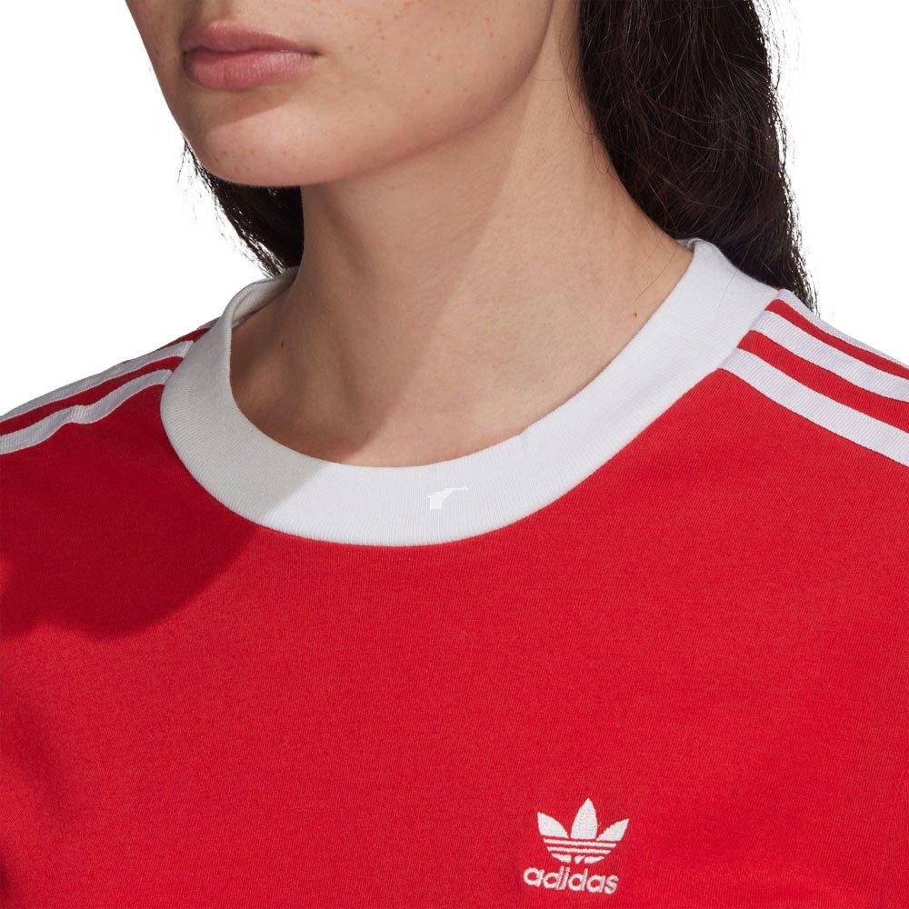 Adidas-Originals-3-Stripes-Rouge-T70867-T-Shirts-Femme-Rouge-T-Shirts-mode miniature 10