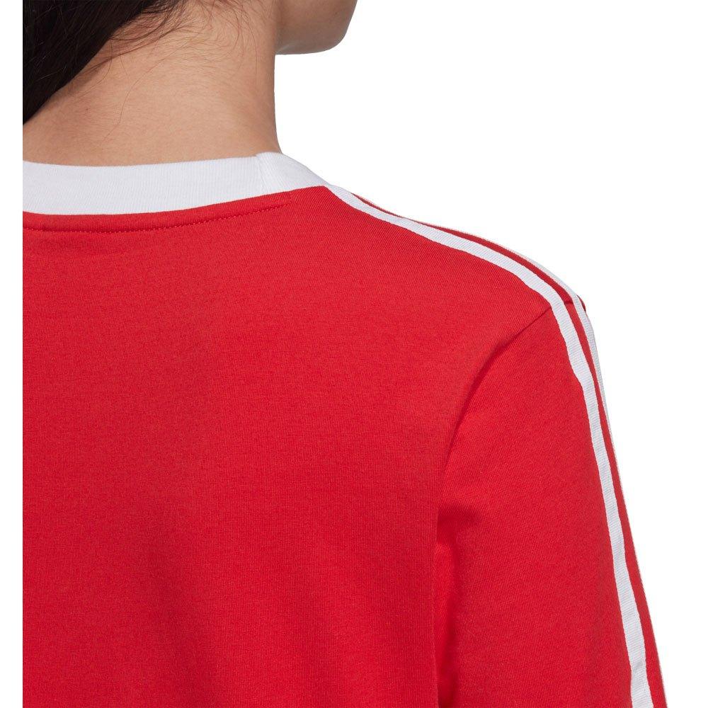 Adidas-Originals-3-Stripes-Rouge-T70867-T-Shirts-Femme-Rouge-T-Shirts-mode miniature 12