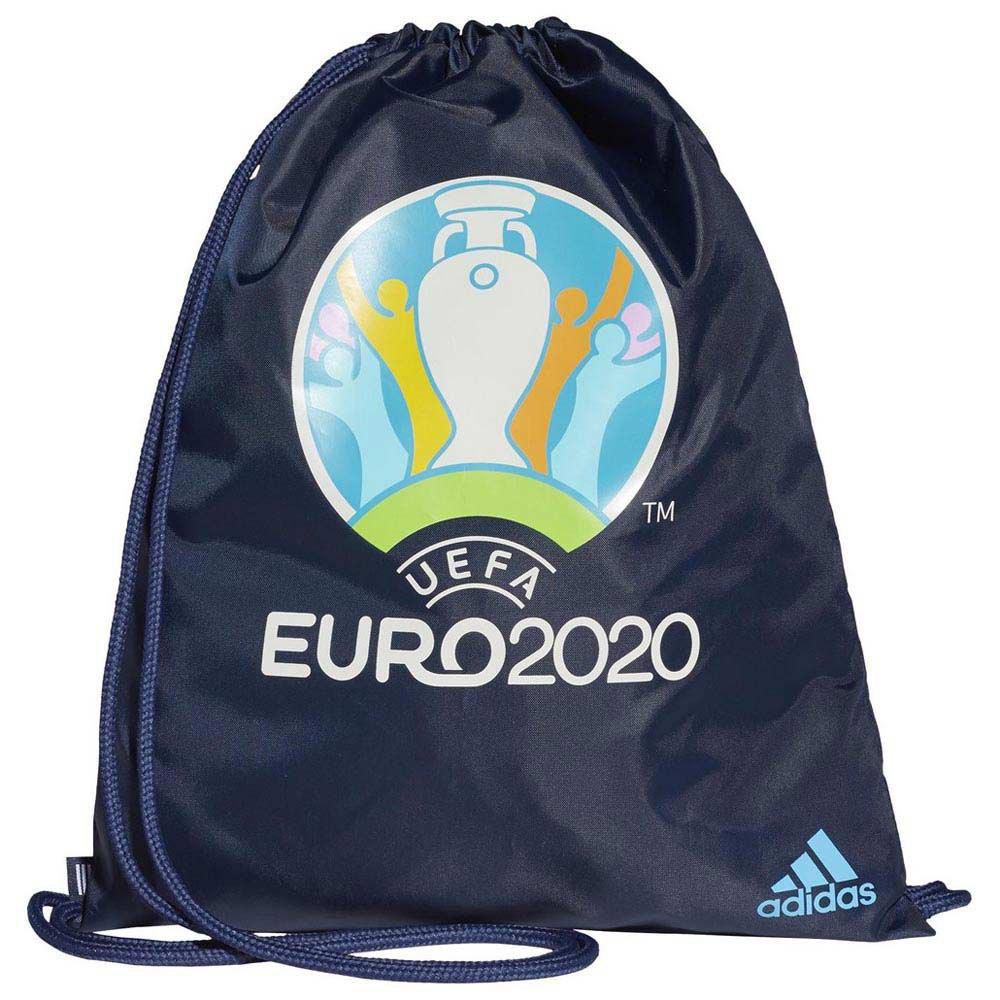 Adidas Sac À Cordon Uefa Euro 2020 One Size Collegiate Navy / Bright Cyan