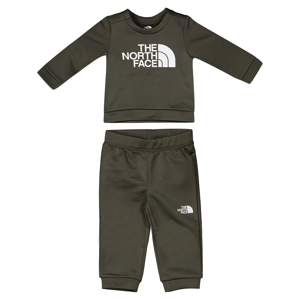 The North Face Surgent Crew Set 0- 3 Months New Taupe Green
