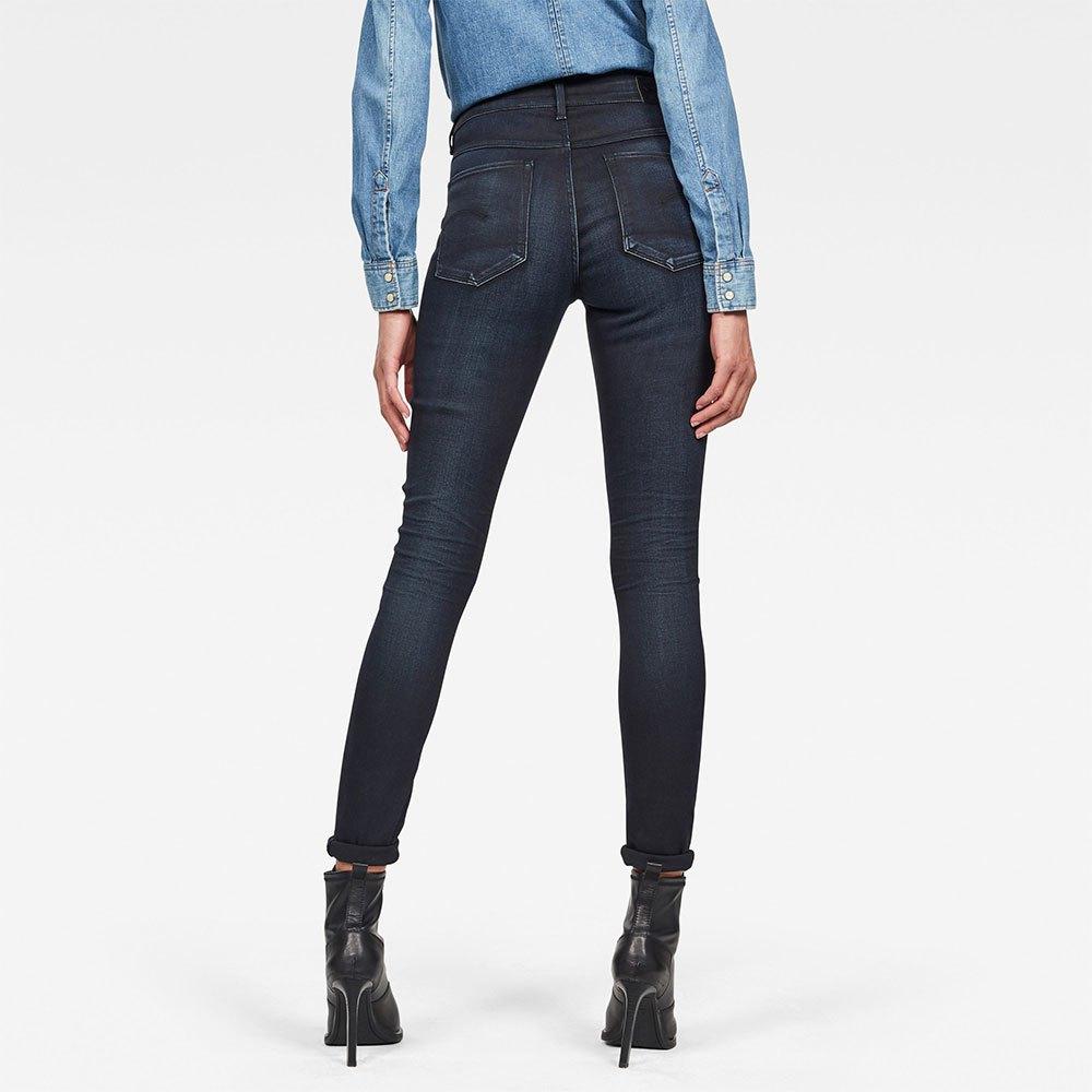 Gstar-3301-High-Skinny-New-Blu-T08094-Pantaloni-Donna-Blu-Pantaloni-Gstar miniatura 8