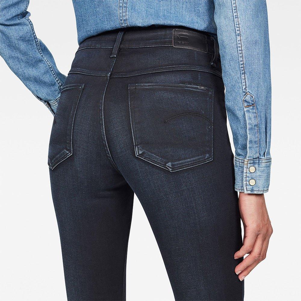 Gstar-3301-High-Skinny-New-Blu-T08094-Pantaloni-Donna-Blu-Pantaloni-Gstar miniatura 9