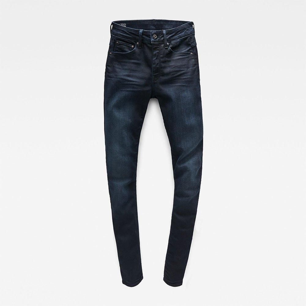 Gstar-3301-High-Skinny-New-Blu-T08094-Pantaloni-Donna-Blu-Pantaloni-Gstar miniatura 10