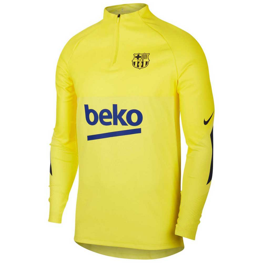 Nike Fc Barcelona Vaporknit Strike Drill 19/20 M Sonic Yellow / Sonic Yellow / Dark Obsidian