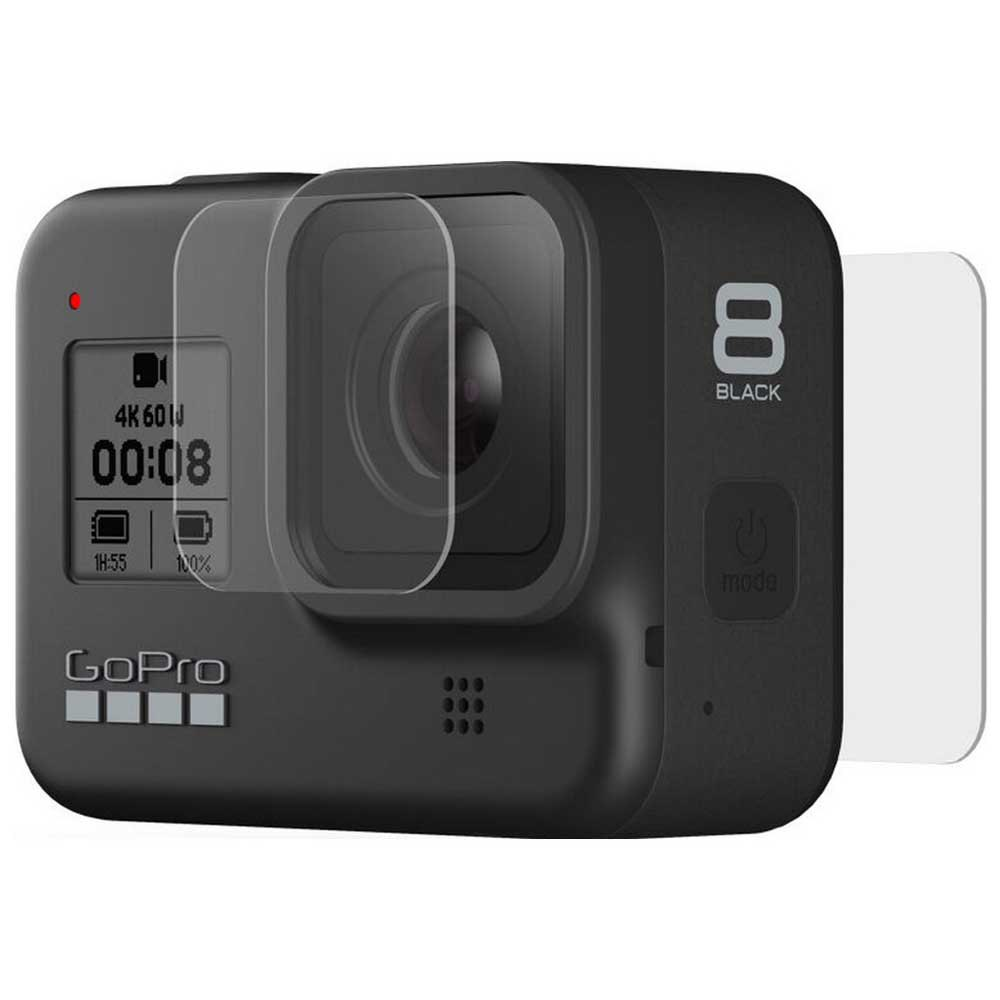 Gopro Tempered Glass Lens And Screen Protectors Hero 8 Max One Size Transparent