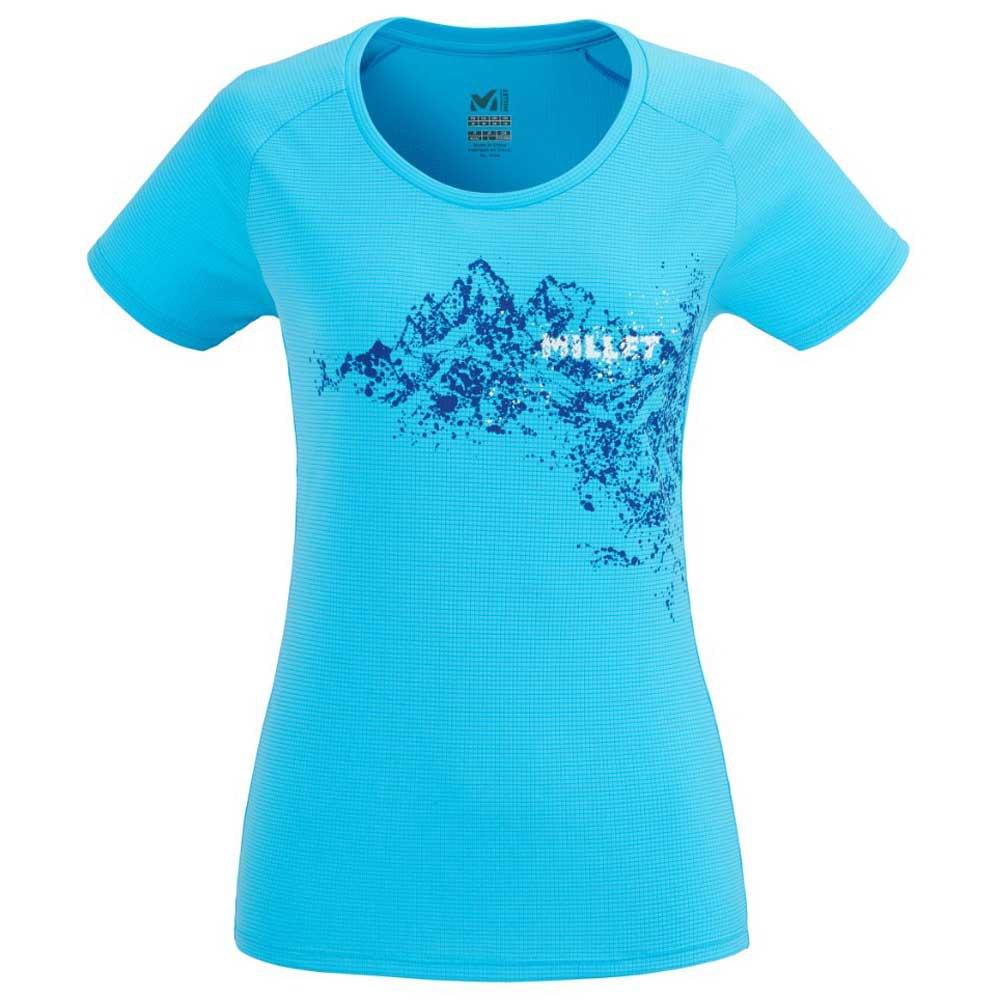 Millet T-shirt Manche Courte White Mountain L Light Blue
