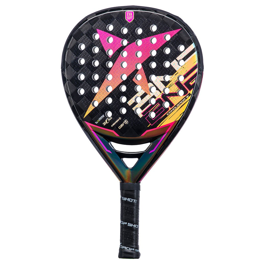 Drop Shot Conqueror 8.0 Woman One Size Black / Pink / Yellow