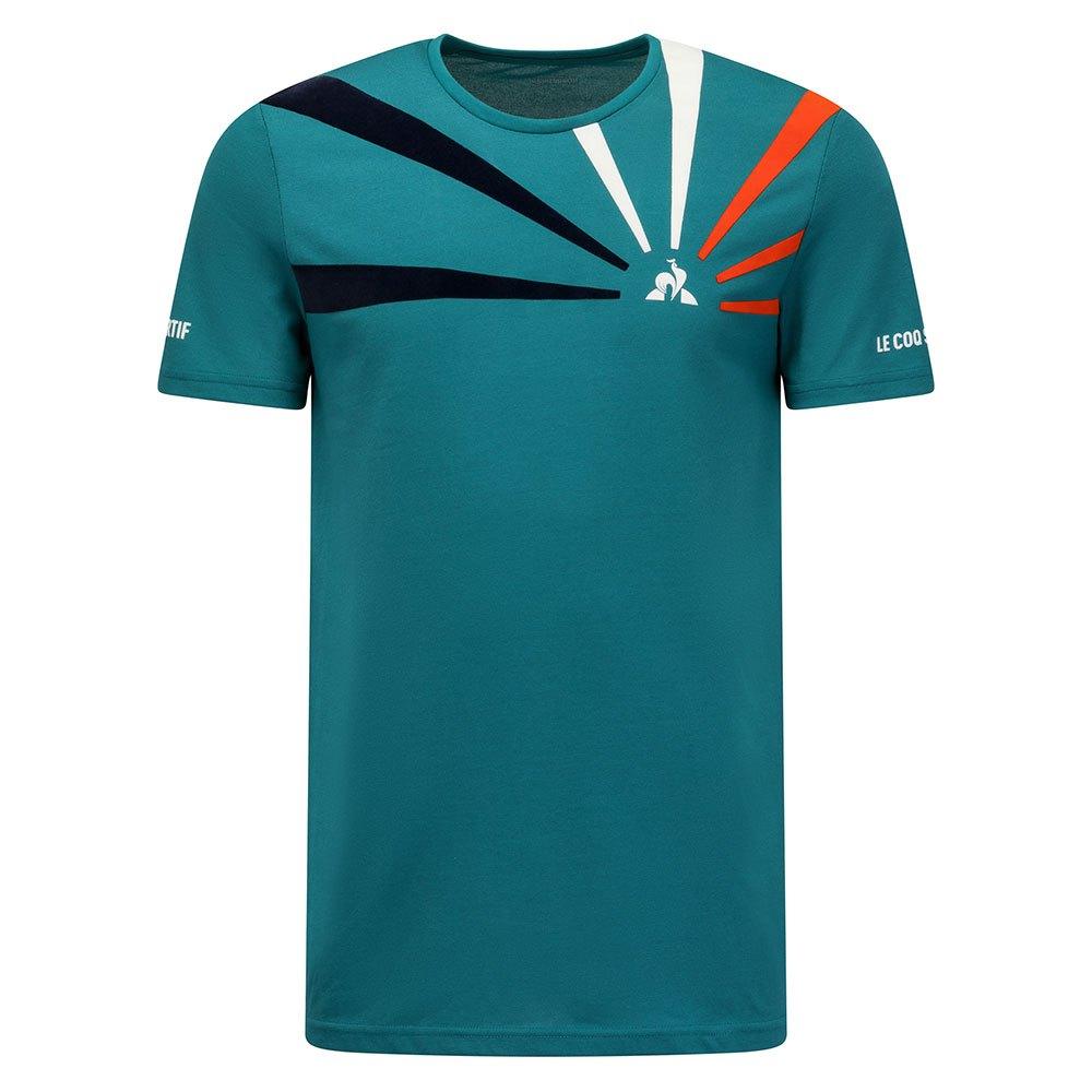 Le Coq Sportif T-shirt Manche Courte Tennis 20 Nº1 L Shaded Spruce