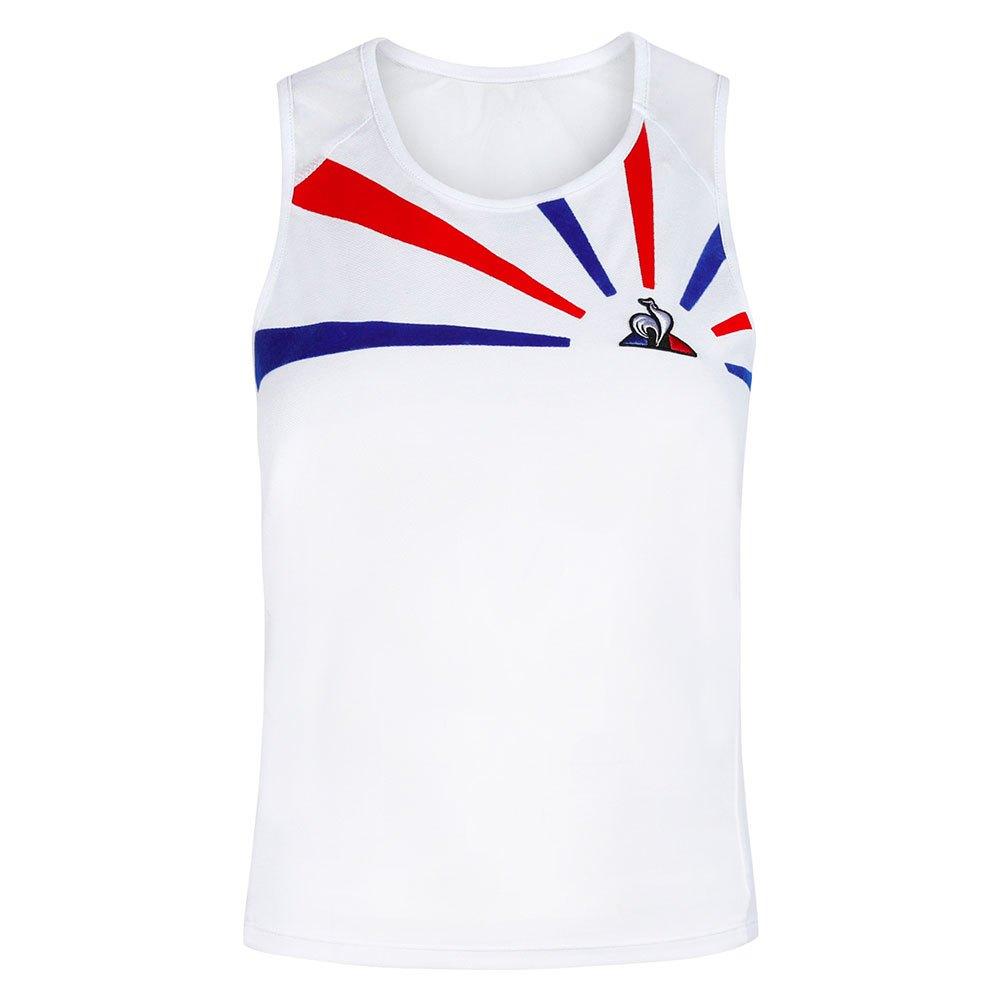 Le Coq Sportif T-shirt Sans Manches Tennis 20 Nº1 XS New Optical White / Cobalt / Pure Red