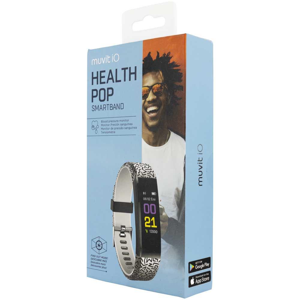 Muvit Bracelet Activité Io Health Pop One Size Black / White