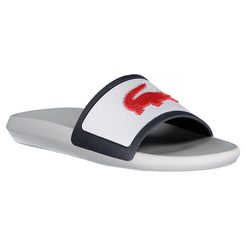 Lacoste Tongs Croco Rubber Strap EU 43 White / Navy / Red