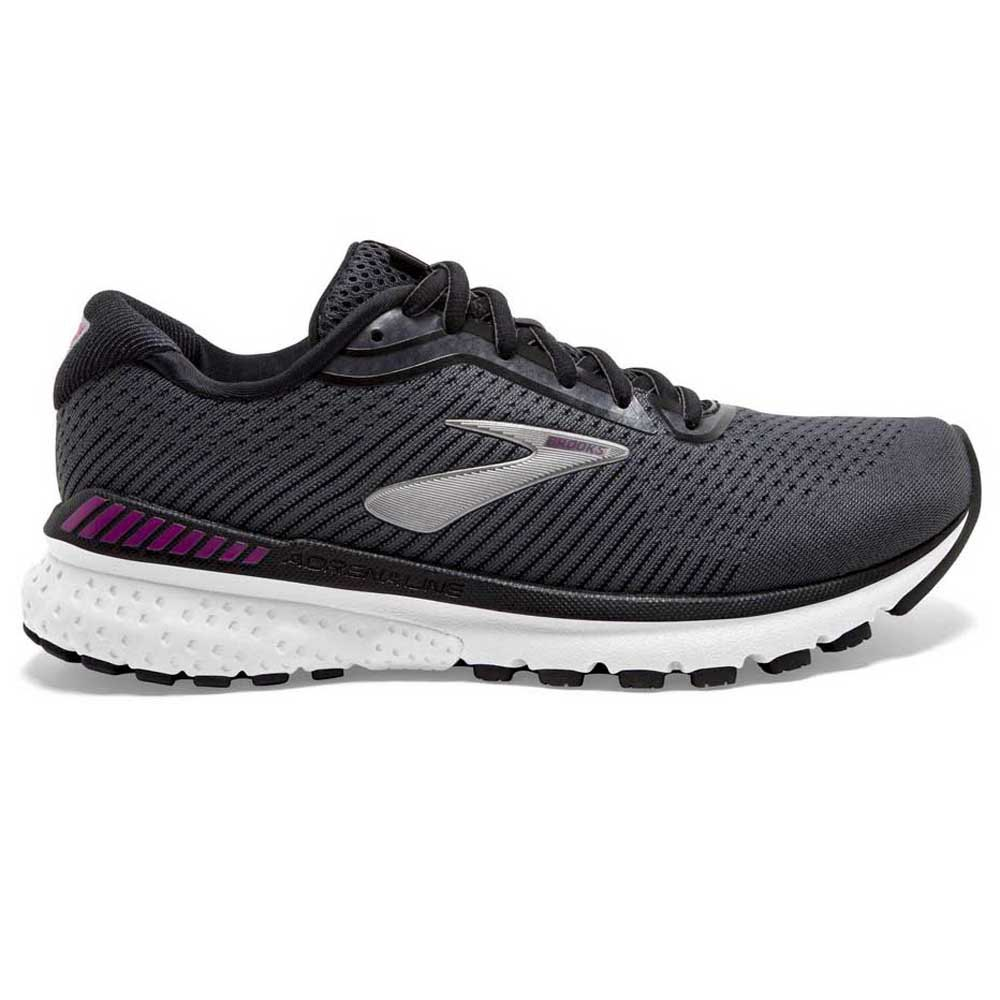Brooks Adrenaline Gts 20 EU 44 1/2 Black / White / Hollyhock