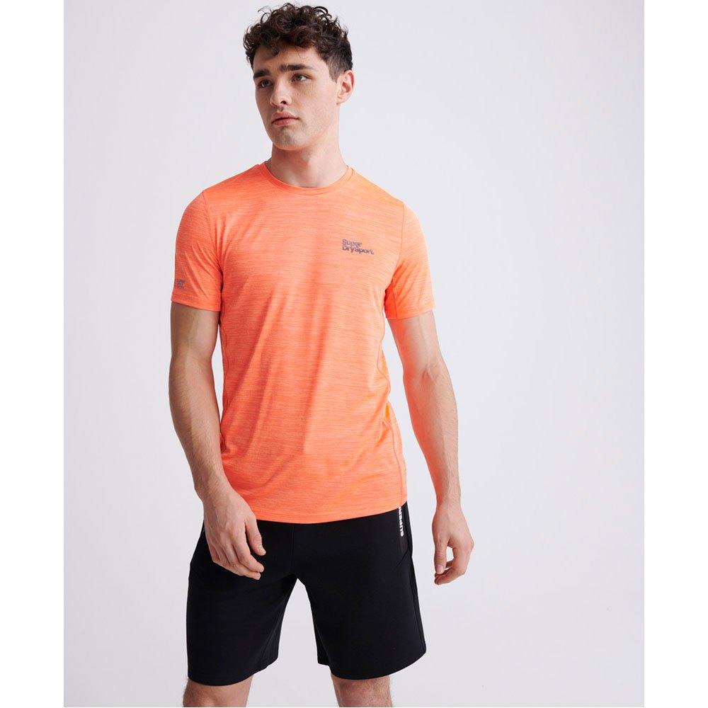 Superdry Training M Bright Havana Orange Space Dye