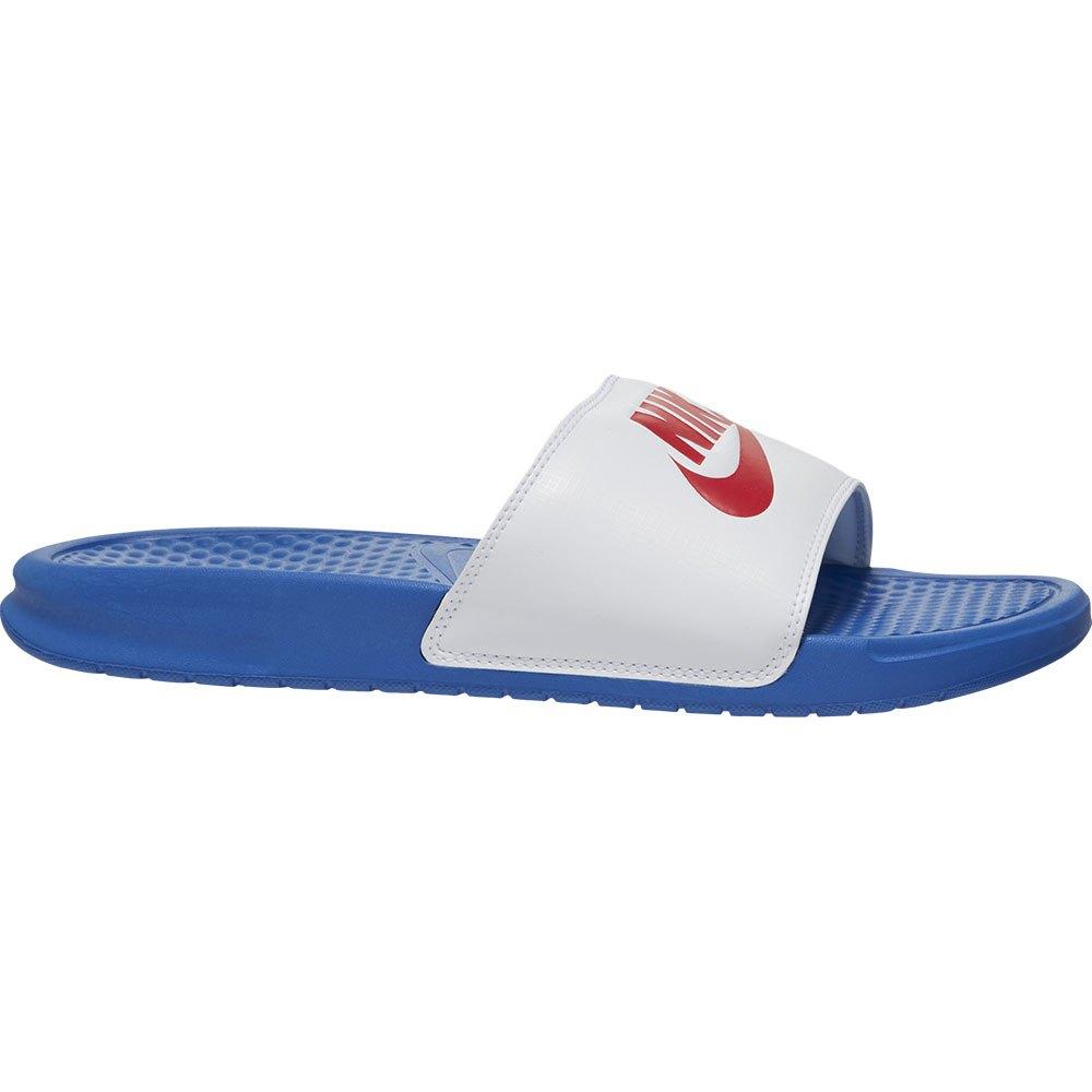 Nike Benassi Just Do It EU 49 1/2 Game Royal / University Red / White
