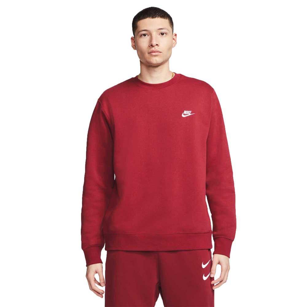 Nike Sportswear Club Fleece Crew Bb L Team Red