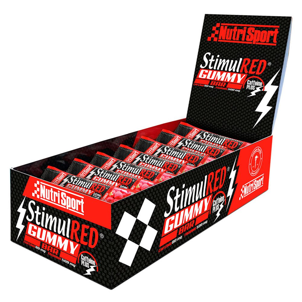 Nutrisport Stimulred Gummy 25gr X 28 Bars Red Berries