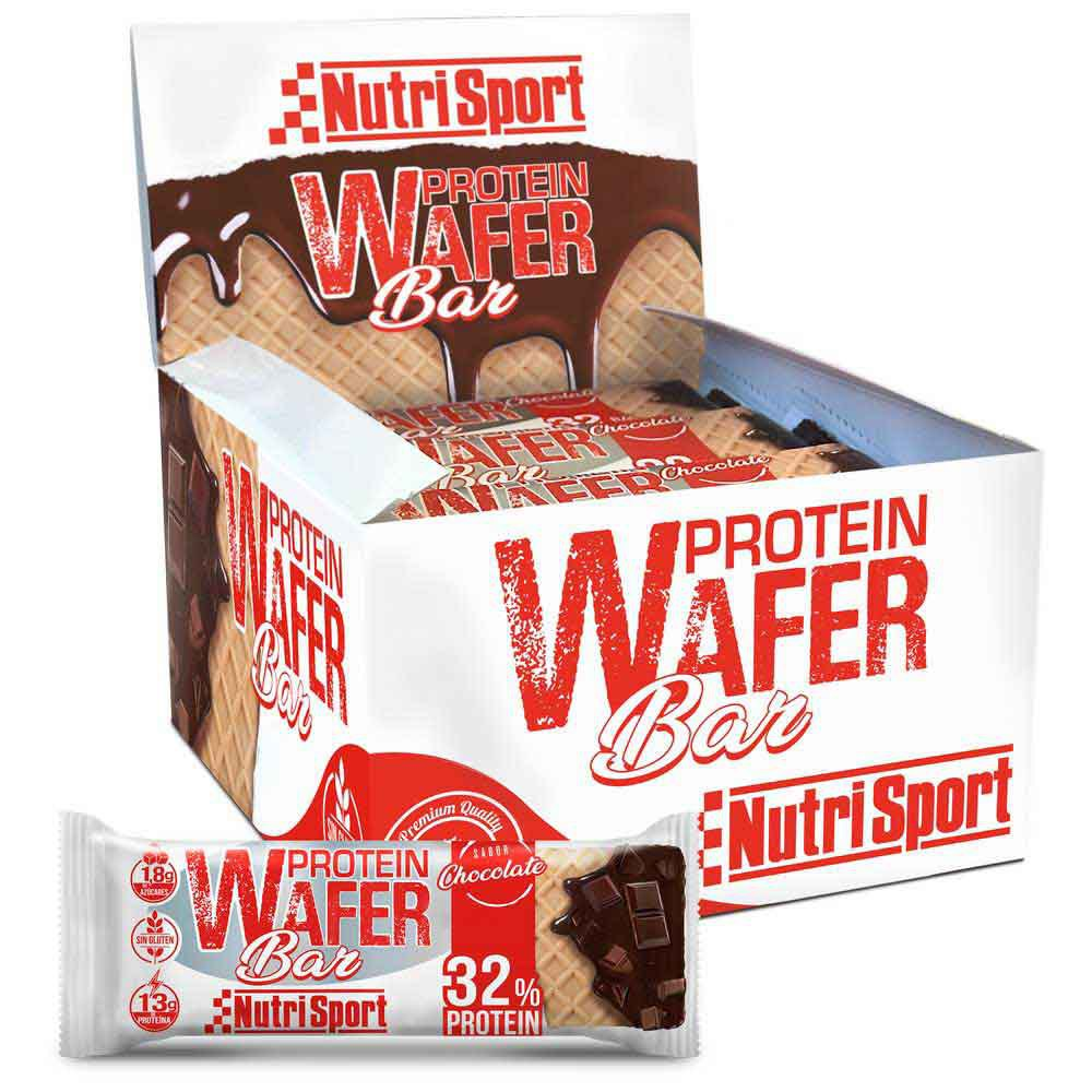 Nutrisport Protein Wafer 13gr X 15 Bars Chocolate / Nuts