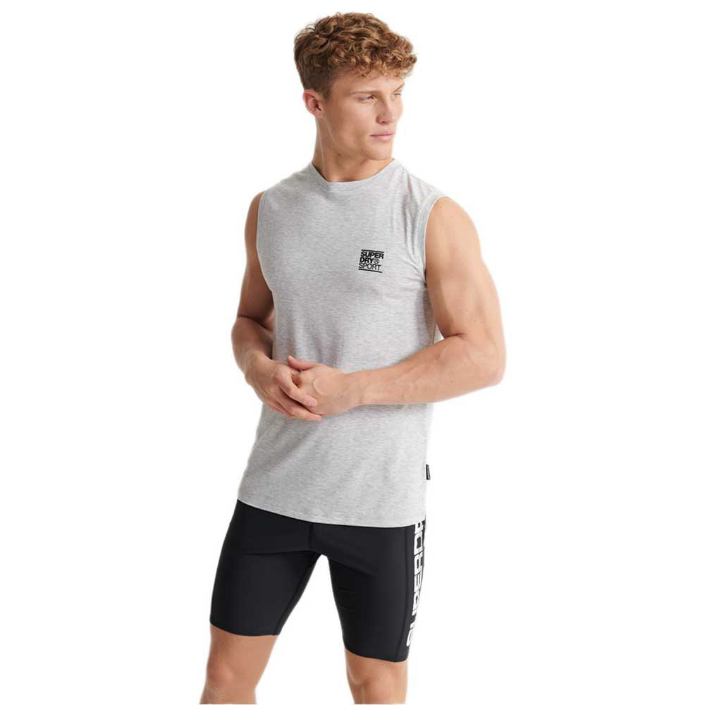 Superdry Training Flex L Light Grey Marl