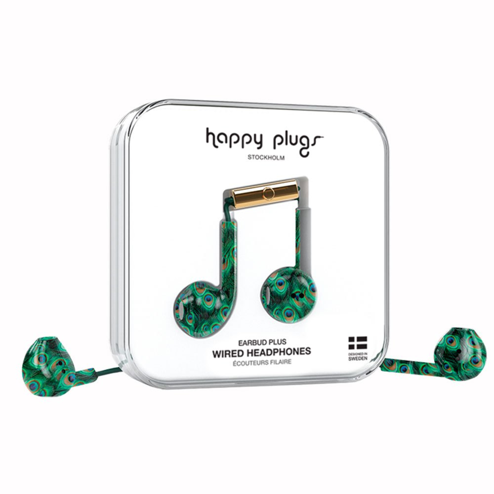 Happy Plugs Earbud Plus Wired One Size Peacock