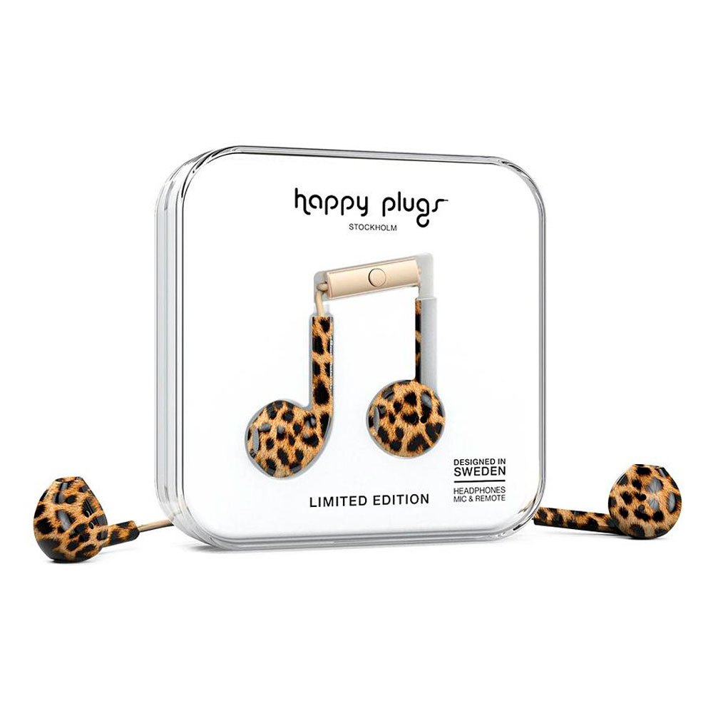 Happy Plugs Earbud Plus Wired One Size Leopard