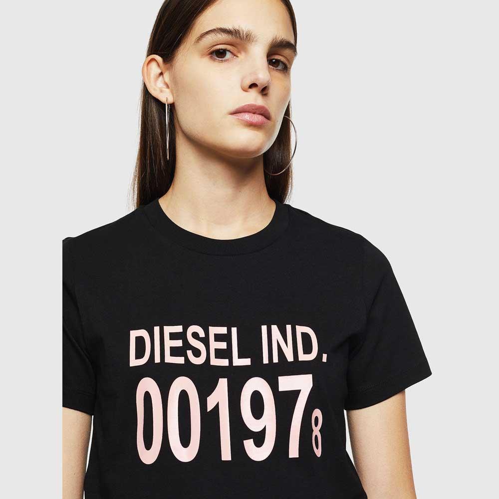 Diesel-Sily-001978-Noir-T00039-T-Shirts-Femme-Noir-T-Shirts-Diesel-mode miniature 10