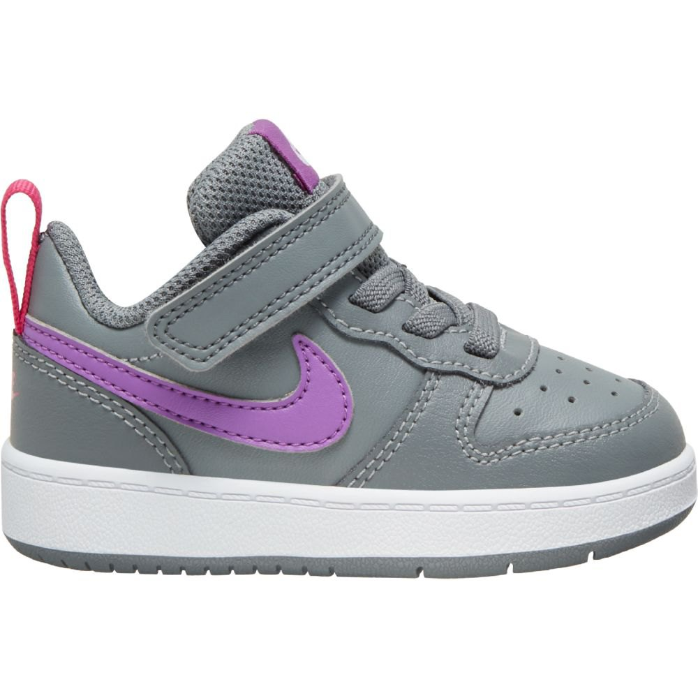 Nike Court Borough Low 2 Tdv EU 21 Smoke Grey / Purple Nebula / Watermelon