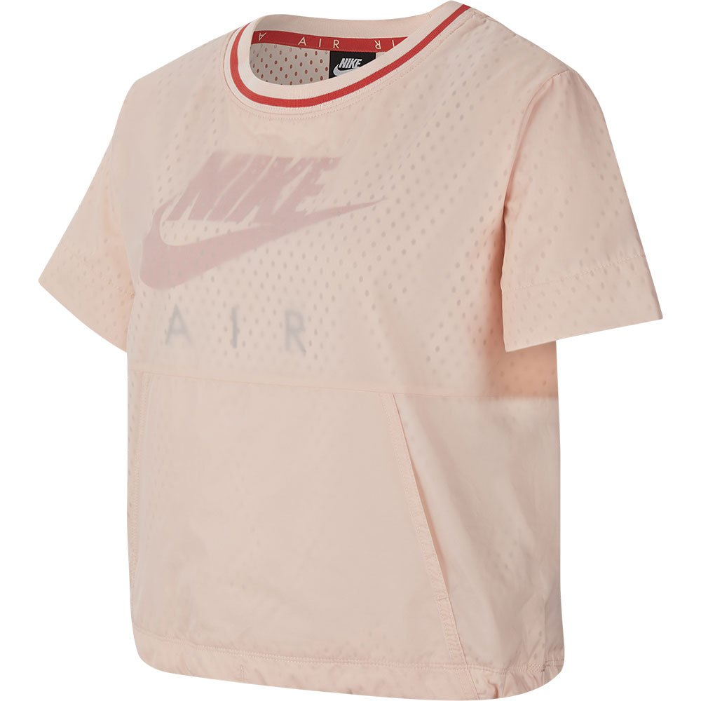 Nike T-shirt Manche Courte Air Big S Washed Coral / Track Red