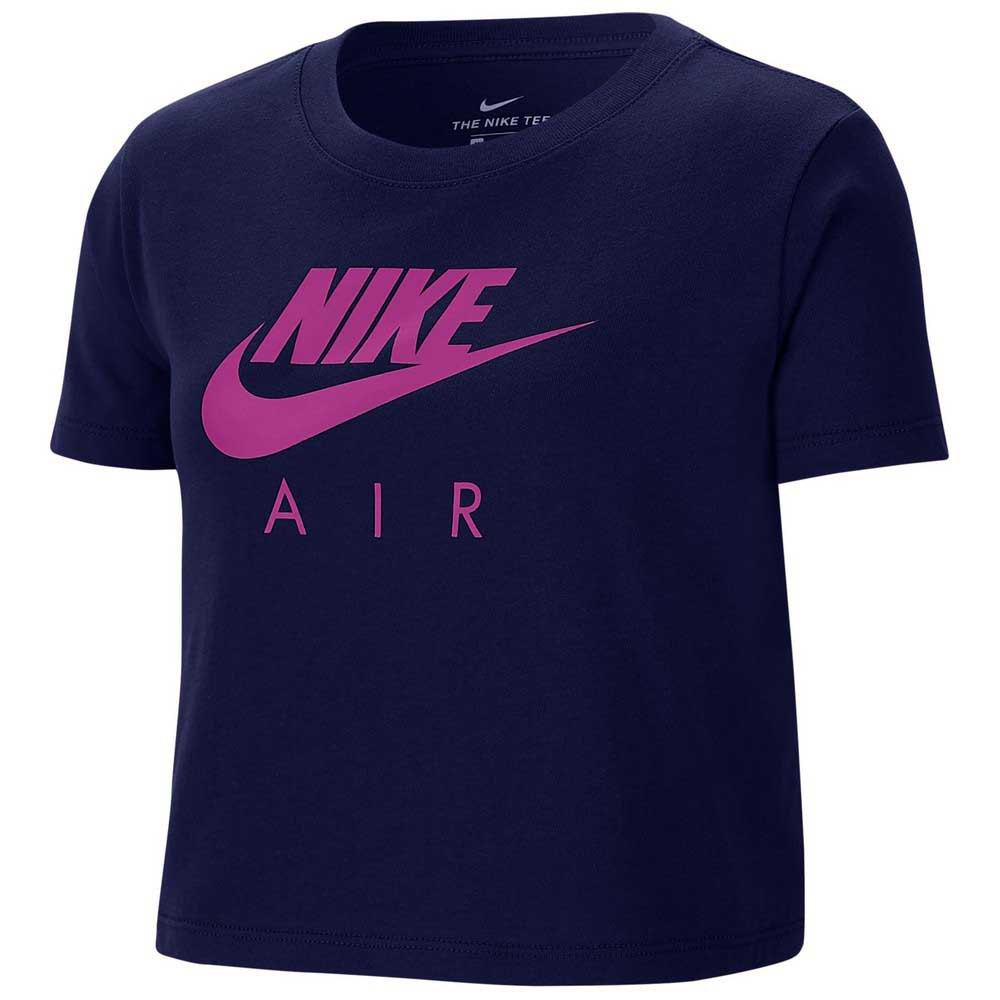 Nike T-shirt Manche Courte Sportswear Air S Blue Void