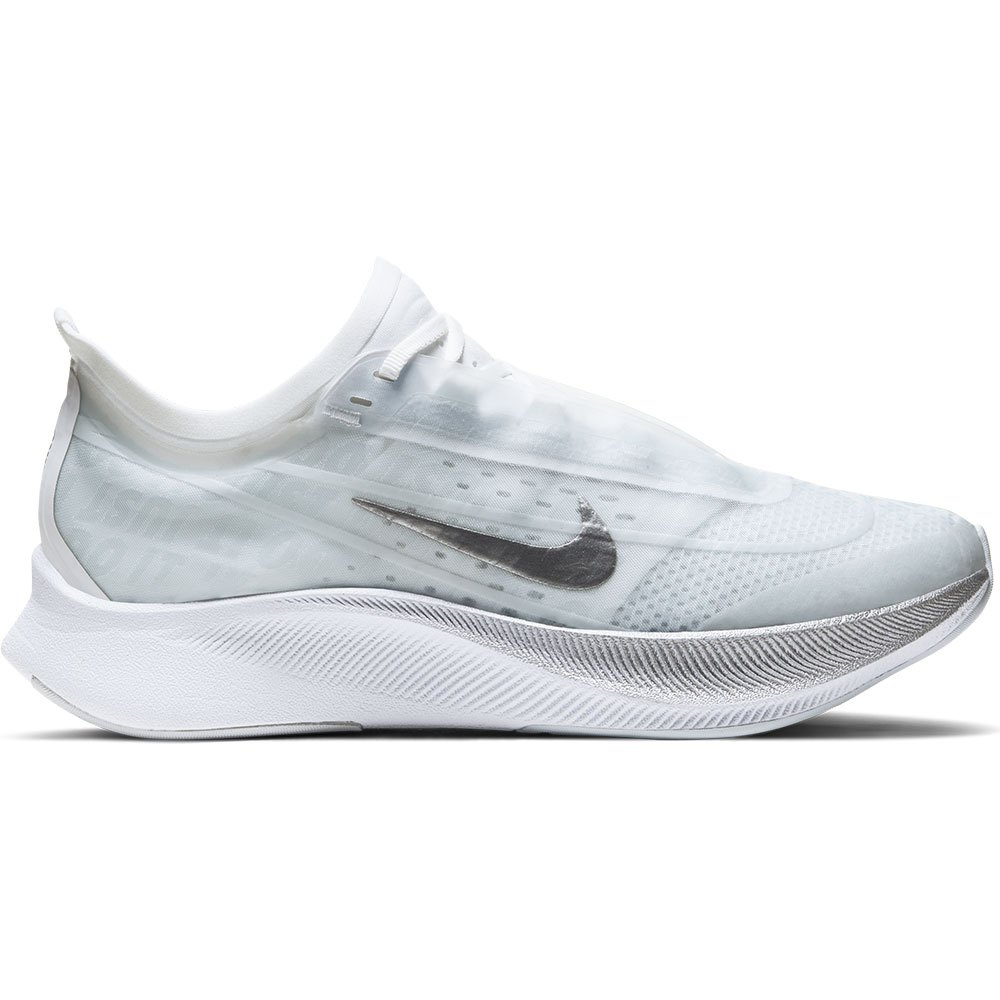 Nike Zoom Fly 3 EU 41 Pure Platinum / Metallic Silver / White / Aura