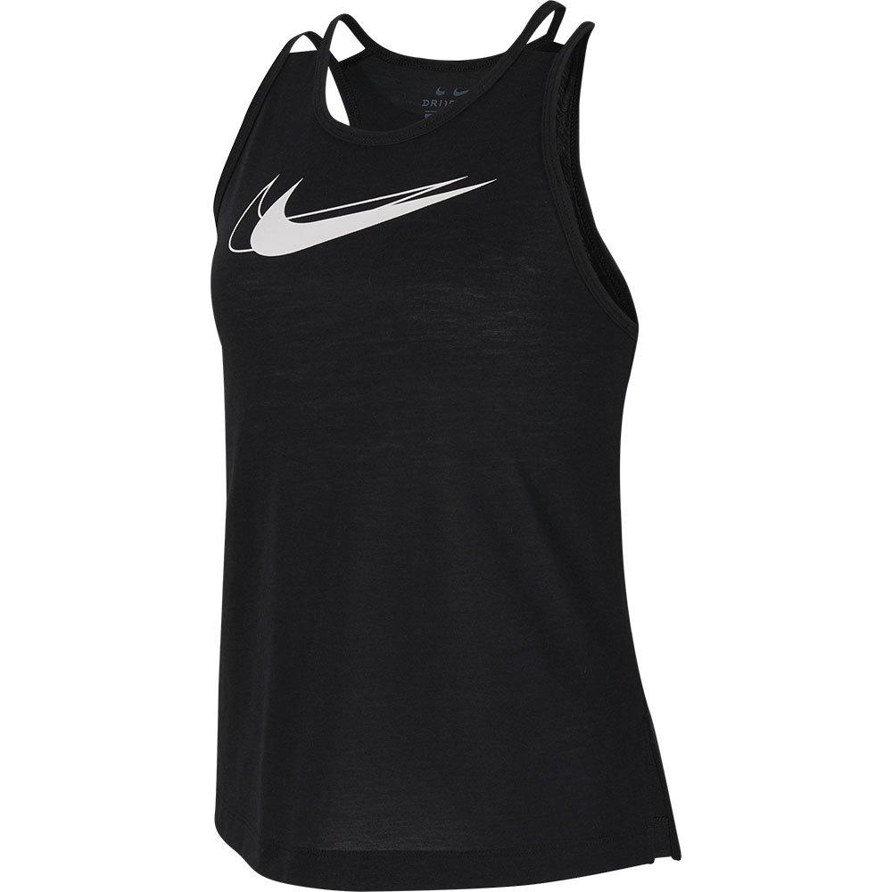 Nike Graphic Training Tank L Black / White