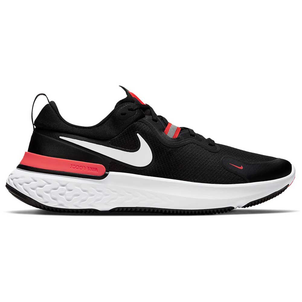 Nike React Miler EU 45 Black / White / Laser Crimson / Oil Green