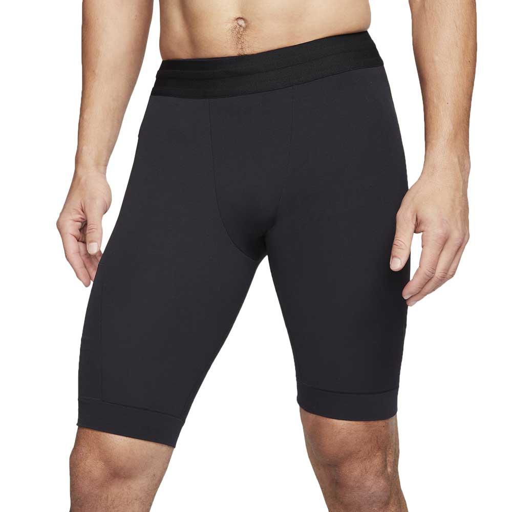 Nike Yoga Dri Fit Shorts S Black / Iron Grey