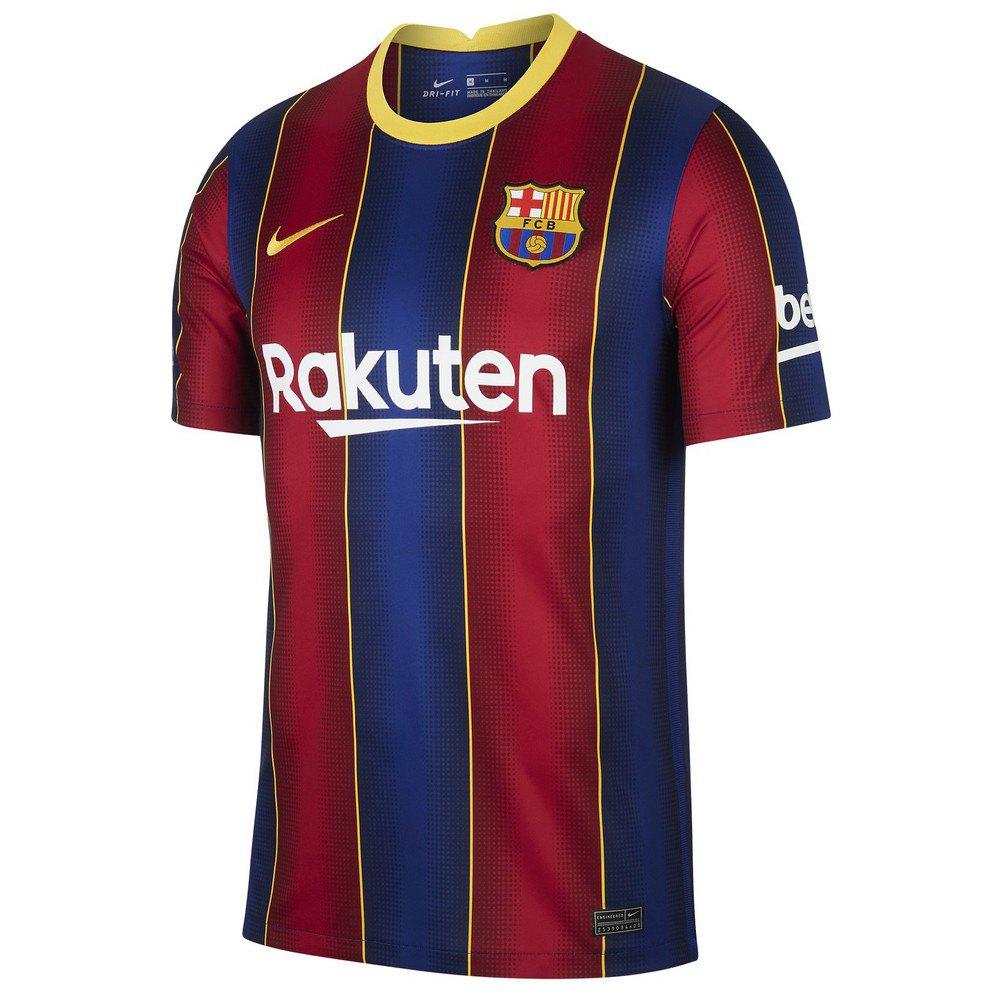 Nike T-shirt Fc Barcelona Domicile Breathe Stadium 20/21 S Deep Royal Blue / Varsity Maize