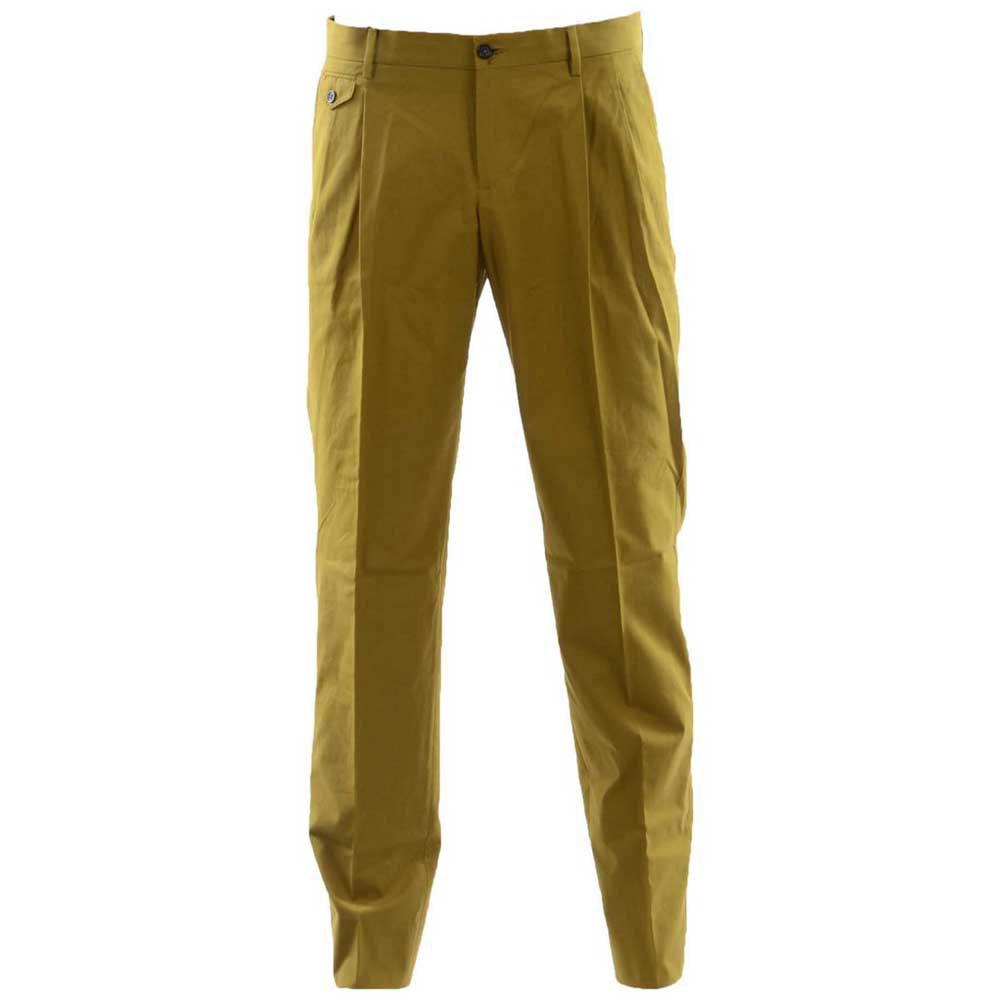 Dolce & Gabbana Men Trousers 52 Dark Yellow