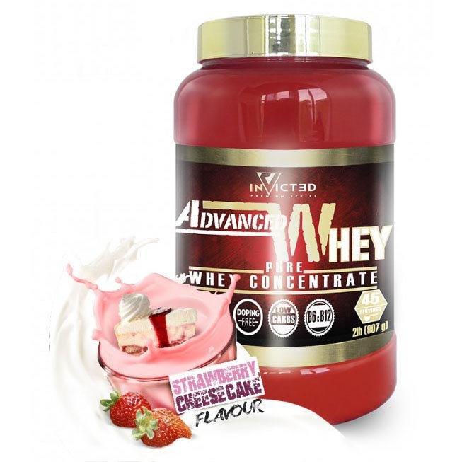 Nutrisport Invicted Advanced Whey 907gr Strawberry Cheesecake