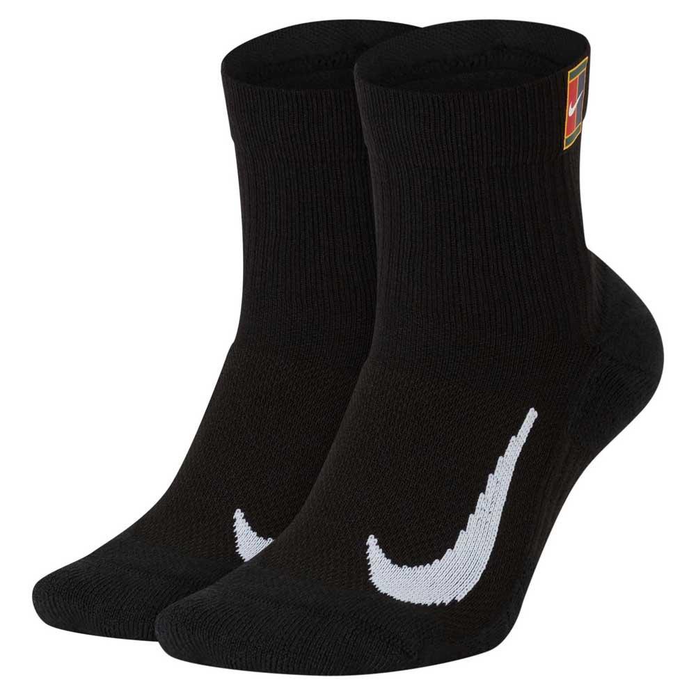 Nike Chaussettes Court Multiplier Max Ankle 2 Paires EU 38-42 Black / Black