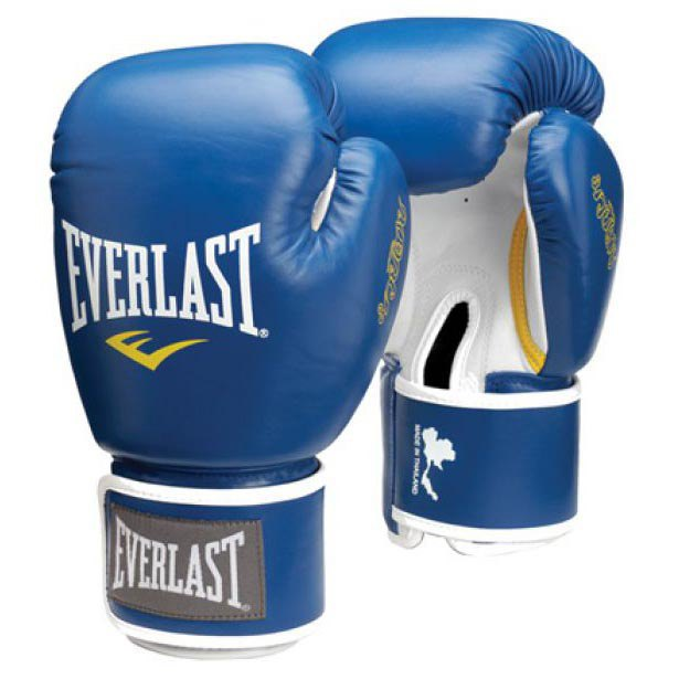 Everlast Equipment Muay Thai Gloves S. Leather 10 Oz Blue
