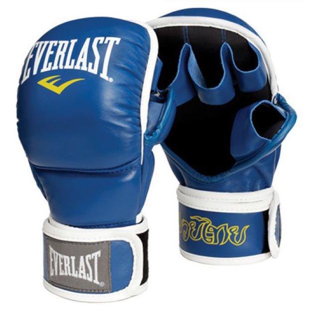 Everlast Equipment Muay Thai Striking Gloves 12 Oz Blue