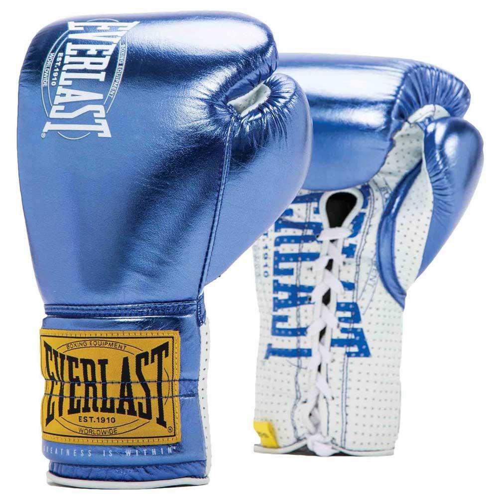 Everlast Equipment 1910 Fight Gloves 8 Oz Metallic Blue