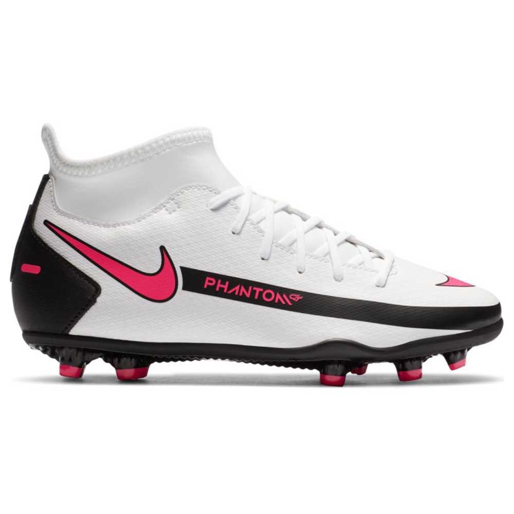 Nike Phantom Gt Club Dynamic Fit Fg/mg Football Boots EU 36 White / Pink Blast / Black