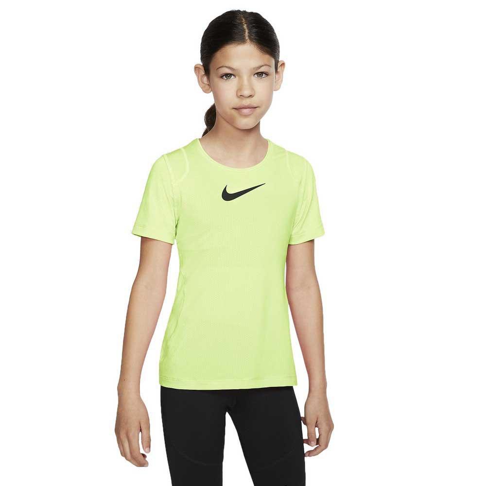 Nike T-shirt Manche Courte Pro S Barely Volt / Black