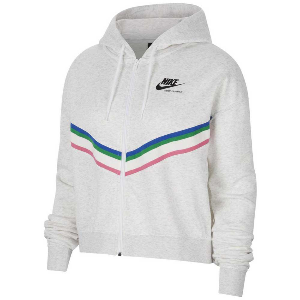 Nike Sweat À Fermeture Sportswear Heritage S Birch Heather / Black