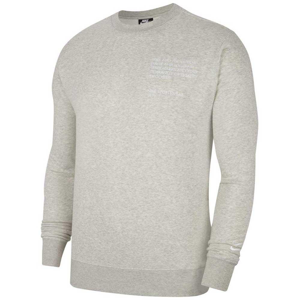 Nike Sportswear Swoosh Crew L Grey Heather / White