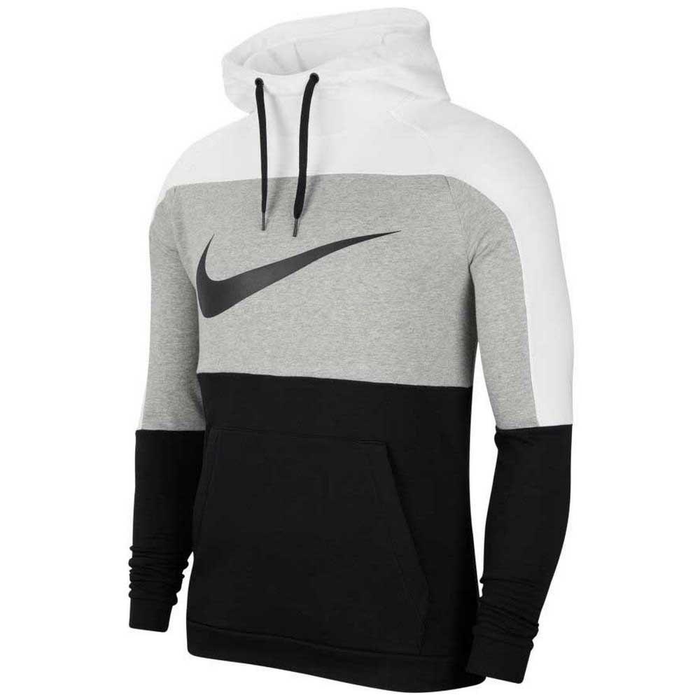 Nike Dri Fit Pullover XXL White / Dk Grey Heather / Black