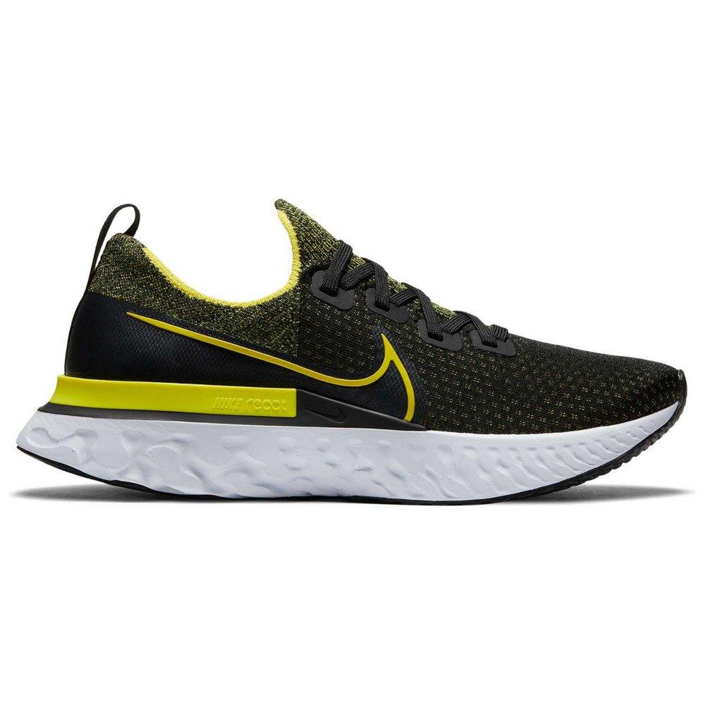 Nike React Infinity Run Flyknit EU 43 Black / Sonic Yellow / White / Anthracite